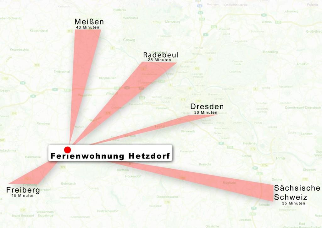 Karten-Umgebung Ferienwohnung Hetzdorf